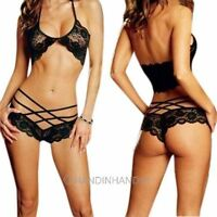 Women Lady Sexy Lingerie Lace Sleepwear Bra G-String Set Underwear Nightwear Hot