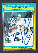 Don Maloney Hand Signed 1979-80 O-Pee-Chee Hockey Card #162 NYR In Person Auto