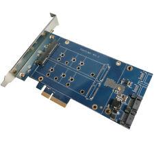 "PCIe x4 a 2.5"" SATA 3.0 + NGFF M.2 SSD RAID hyperduo Puerto SATA multiplicador 88SE92"