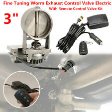 """3"""" Fine Tuning Worm Exhaust Control Valve Electric w/ Remote Control Switch Kit"""