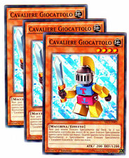 Set 3X CAVALIERE GIOCATTOLO Toy Knight SECE-IT093 Comune in Italiano YUGIOH