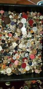 HUGE LOT ~ Vintage & Antique Sewing Buttons ~ Mixed MOP MOTHER OF PEARL