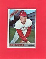 1966 Topps baseball #435 JIM BUNNING Philadelphia Phillies Hall of Fame HOF