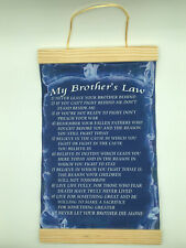 My Brother's Law,Canvas Wall Print, 8x12,Dark Blue Background