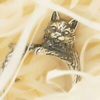 1PC Fashion Cat Open Ring Retro Cat Totem Finger Ring for Friends