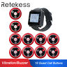 Retekess T128 Wireless Restaurant Calling System 1*Watch Receiver 10*Call Pager