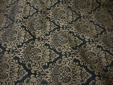 Charcoal Cleopatra Chenille Fabric Gold Damask Print upholstery furniture