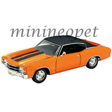 MAISTO 31890 1971 CHEVROLET CHEVELLE SS 454 SPORT 1/18 with STRIPES ORANGE