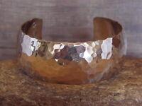 Native American Jewelry Hand Made Hammered Silver Bracelet by Douglas Etsitty!