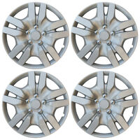 """4 PIECES Hub Cap ABS Silver 16"""" Inch Rim Wheel Cover Hubcaps Set Caps Covers"""