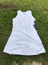 NWT NIKE White Tennis Golf Girls Dress Dri Fit Sz L