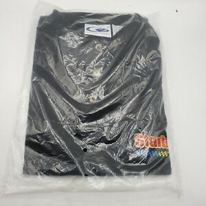 Starburst candy Racing Team NASCAR car Racing Shirt POLO CYRK Medium Black