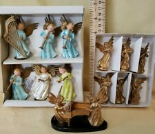 Vintage Angel Christmas Decor Assortment Featuring Angels with Instruments