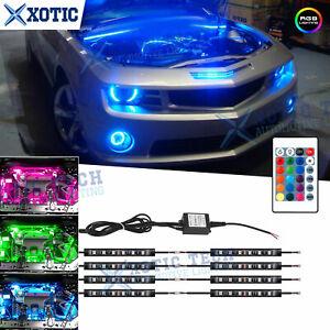 RGB LED Engine Bay Under Car Lighting Kit RF Control For Chevy Corvette Camaro