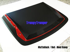 MATTE BLACK RED HOOD SCOOP BONNET COVER CHEVROLET HOLDEN COLORADO 2016 2017 UTE