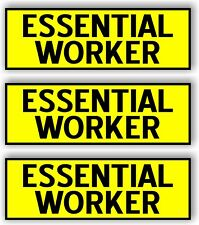Essential Worker Car MAGNET Magnetic Bumper Sticker  bright safety yellow