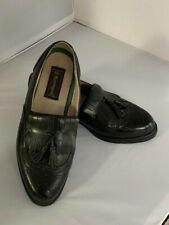 Barrington Men's Size 10EE Loafer Black Leather Tassel Wing Tip Style 74564