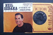 """7"""" Neil Sedaka - Let's Go Steady Again - Japan RCA w/Pic"""