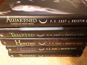 House of Night Series Book Lot Of 5 Books P.C. & Kristin Cast hardcovers ec!