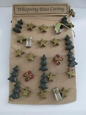 New Lori Miller Collection Whispering Pines 8 FT Christmas Tree Garland Folk Art