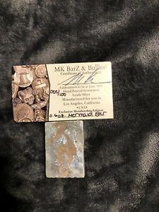 3.6 Troy Oz. MK BarZ .999  Limited Silver Mermaid Bar 005/100
