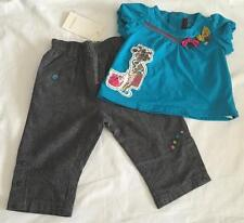 CATIMINI- Baby Girls 3-6m PANTS/SHORTS & S/SLEEVE TOP OUTFIT ~ 2pc SET - NWT