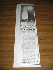 1925 Print Ad Holophane Industrial Lighting for Factories New York & Toronto