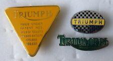 TRIUMPH MotorCYCLE MotorBIKE MOTORING Enamel Lapel Pin Badges x 3 Lot1