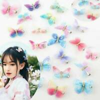 2Pcs Butterfly Hair Clip BB Hairpin for Kids Women Girls Hair Claw Clips Summer
