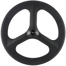 700C Tri Spokes Carbon Wheels Front Wheels Road Bike 3 Spokes Time Trial/Triathl
