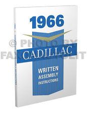1966 Cadillac Written Assembly Manual Deville Eldorado Calais 60 75 Fleetwood
