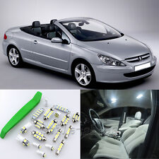 Xenon White 9pcs Interiror LED Light Kit for Peugeot 307 CC + Free Tool