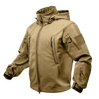 Tan Coyote Rothco Special Ops Tactical Soft Shell Jacket Waterproof Free Ship