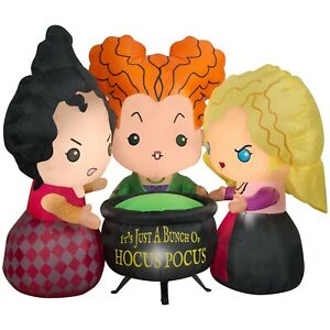 Disney Sanderson Sisters 4.5 ft Inflatable Hocus Pocus Halloween Witches NEW NIB
