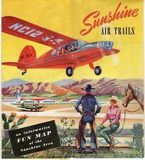 Sunshine Air Trails Map - 1947