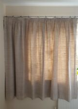 "Downsizing : Bespoke Curtains Beige / Brown 158cm / 62"" Drop : Lined / Weighted"