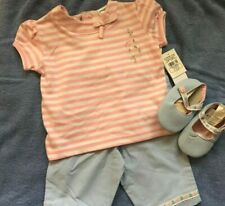 Nwt Little Me Size 18 Months 3 Piece Pant Set With Shoes Just To Cute All New
