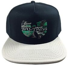 WU-TANG CLAN SNAPBACK HAT CAP BLACK GREY GREEN CAMO LOGO FLAT BILL ADJUSTABLE