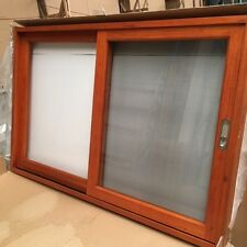 SLIDING WINDOW TIMBER, SOLID CEDAR WINDOW, 1200 x 900, 6MM GLASS,WITH FLY SCREEN