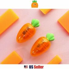 Mini Portable Carrot Vegetable Pencil Sharpener with Eraser : 1pc