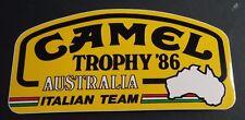 Aufkleber CAMEL TROPHY 1986 Australien TEAM ITALIA Land Rover Defender Sticker