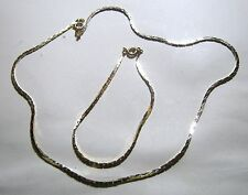 Great set of Gold tone metal chain linked necklace and bracelet
