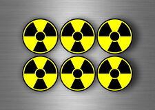 6x Autocollant sticker voiture signe symbole radioactif biohazard zombie warning