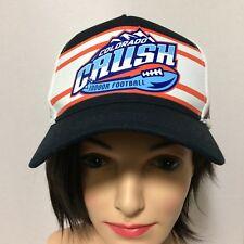 Colorado Crush Indoor Football Black White Net Baseball Cap Hat