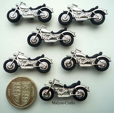 MOTORBIKES Craft Buttons 1ST CLASS POST Novelty Motor Cycle Dress It Up Bike