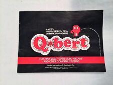 Q*bert Instruction Booklet Only Atari 2600 Book Only Parker Brother Qbert