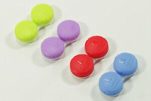 WOW 4x Kontaktlinsenbox kompakt Aufbewahrungsbehälter Aufbewahrungsbox