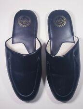 L.B. Evans 1804 Duke 2761 Leather Scuff Slippers, Men's Size 8 M Black