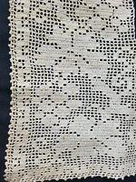 Antique Lace Insertion Filet Crochet Insert Corners Sewing Applique A22