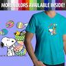 Peanuts Snoopy Woodstock Easter Eggs Spring Cartoon Mens Tee V-Neck T-Shirt